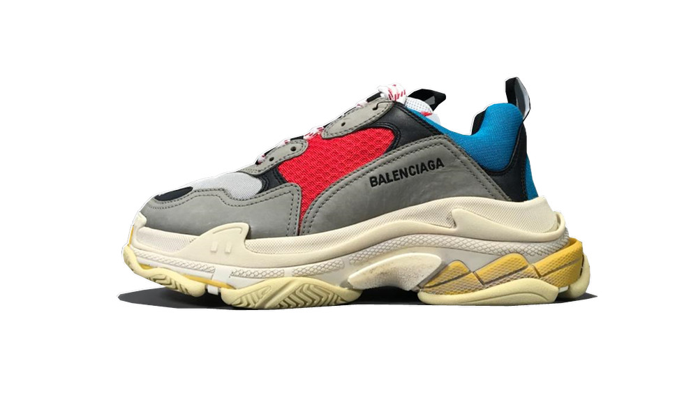 Balenciage Triple S Grey Red Blue