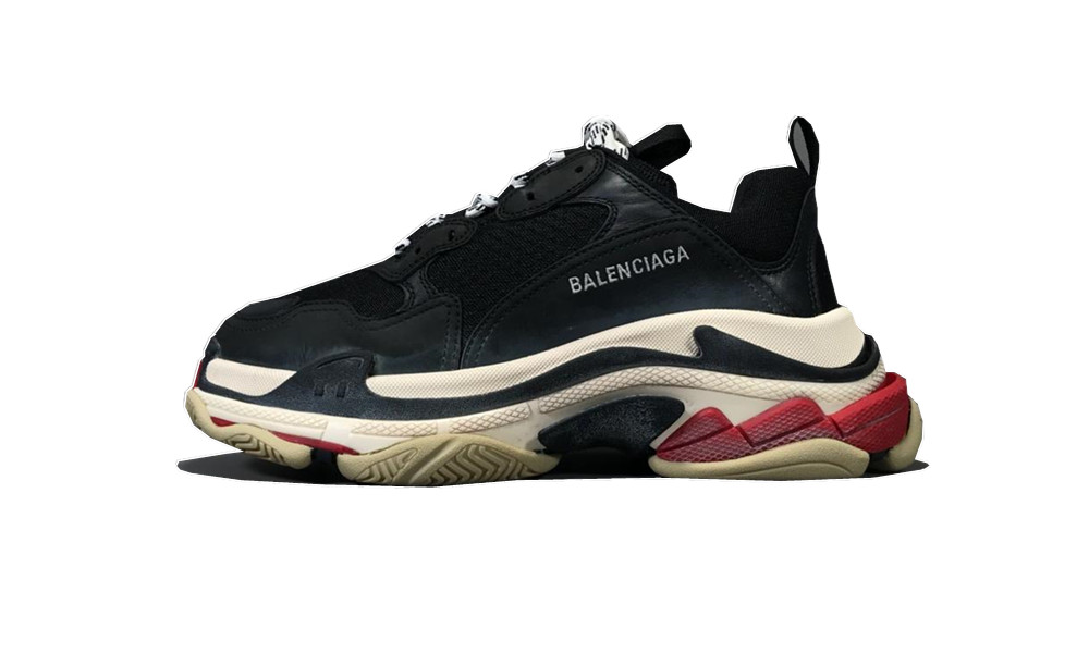 Balenciage Triple S Black White Red