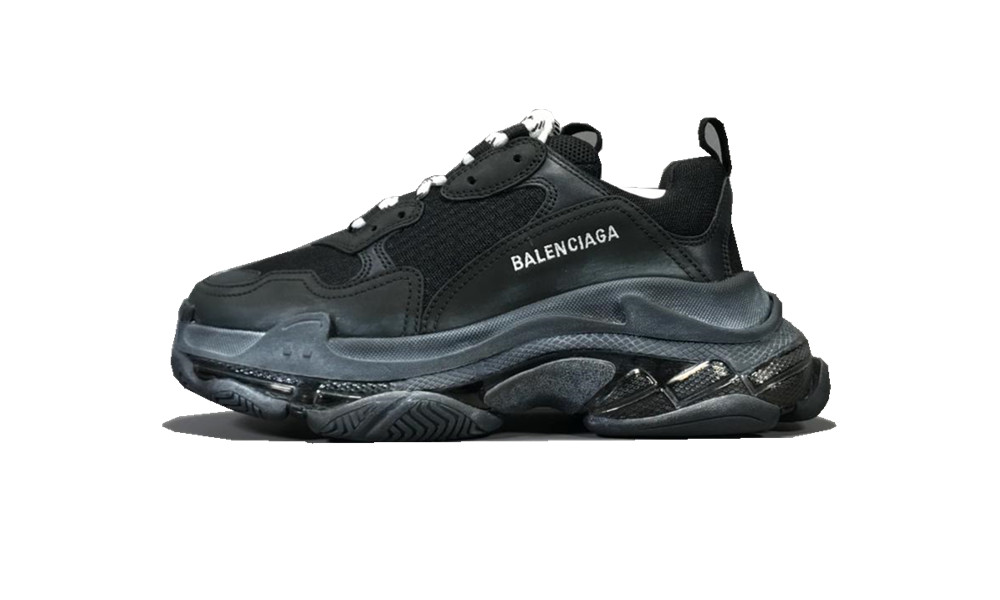 Balenciage Triple S Clear Sole Black