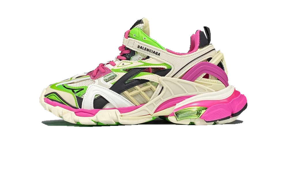 BALENCIAGE Track 2 White/Green/Pink