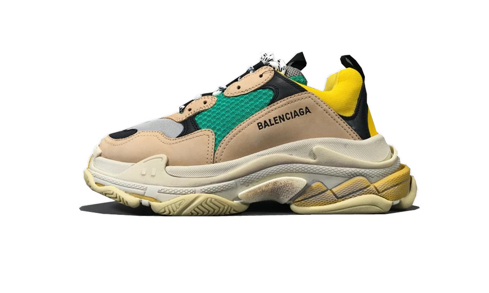Balenciage Triple S Beige Green Yellow