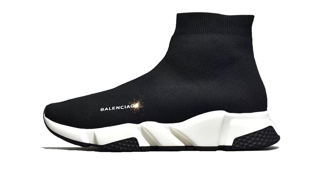 Balenciag* Speed Trainer Black White...