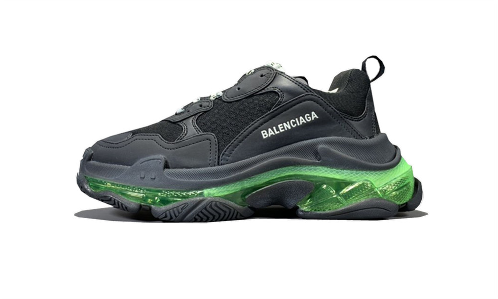 Balenciage Triple S Black Yellow Fluo