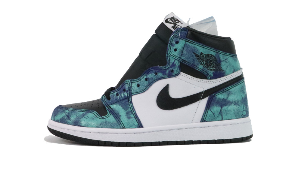 Air Jordan 1 Tie-Dye White Black Aurora Green