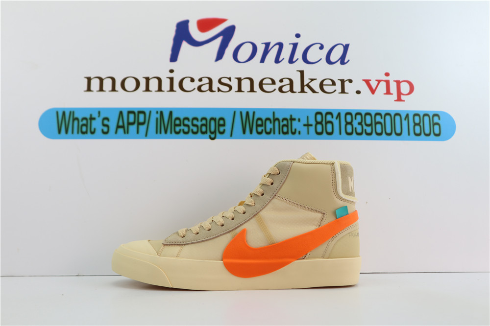 "PK(UPDATE LACES) OFF-WHITE X NIKE BLAZER MID ORANGE""ALL HALLOWS EVE""RETAIL MATERIALS""AHE"""